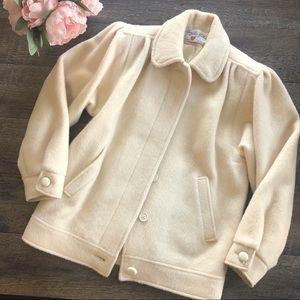 {Vintage} Cream Wool Coat